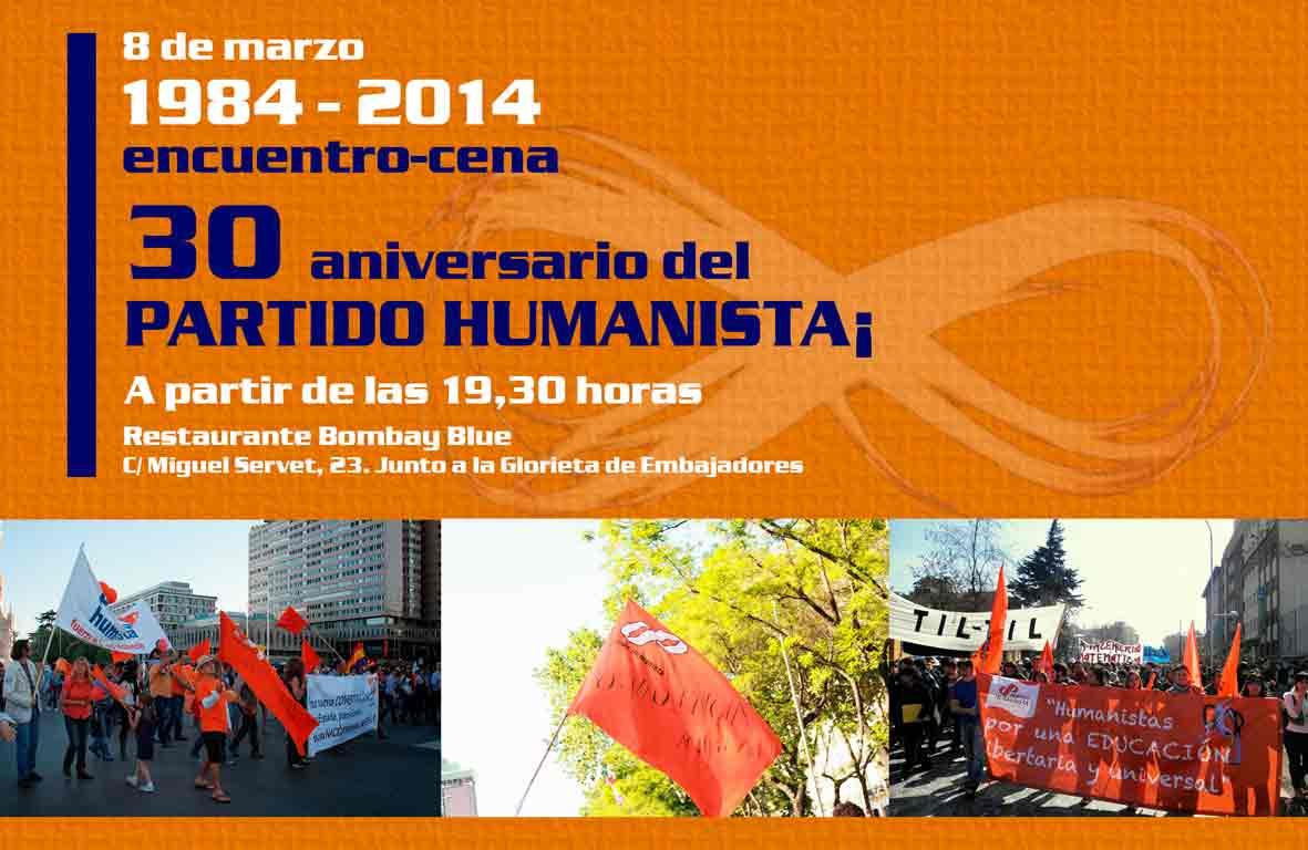 aniversario, partido humanista, 30 años, madrid